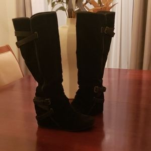 Aldo Shoes - Size10 Women's Suede Knee-high wedged boots
